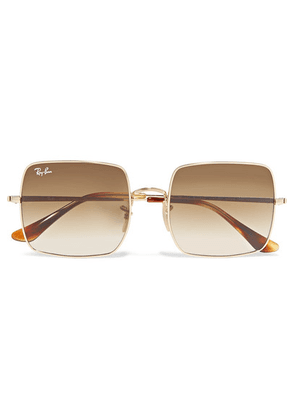 Ray-Ban - Square-frame Gold-tone Sunglasses - one size