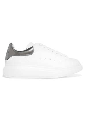 Alexander McQueen - Leather Exaggerated-sole Sneakers - White