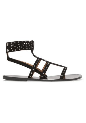 Isabel Marant - Jestee Studded Suede Sandals - Black