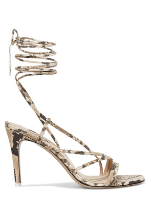 Attico - Snake-effect Leather Sandals - Snake print