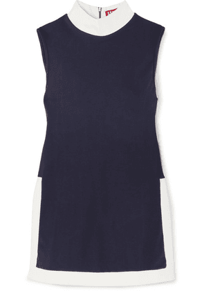 STAUD - Pete Stretch-jersey Top - Navy