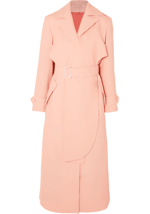 MATÉRIEL - Layered Belted Twill Trench Coat - Blush