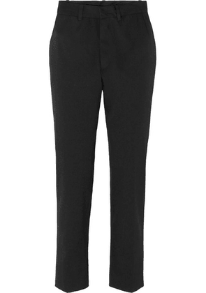 Vetements - Wool-blend Straight-leg Pants - Black