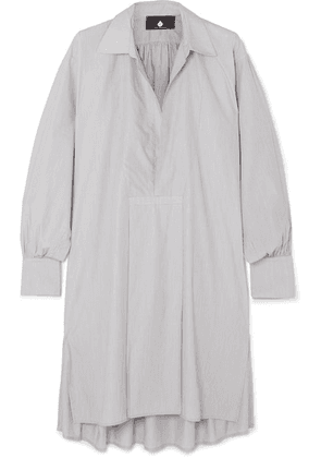SU Paris - Popi Striped Cotton-poplin Shirt Dress - Gray
