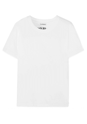 Balenciaga - Tattoo Embroidered Cotton-jersey T-shirt - White