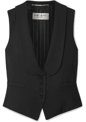 SAINT LAURENT - Wool-twill Vest - Black