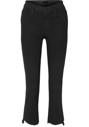 Mother - The Insider Crop High-rise Flared Jeans - Black