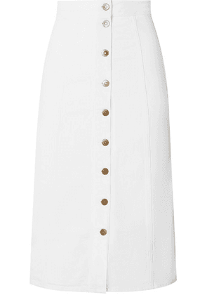 M.i.h Jeans - Panton Denim Midi Skirt - White