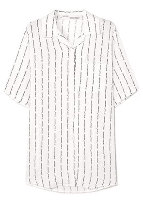 Off-White - Printed Crepe De Chine Shirt - IT38