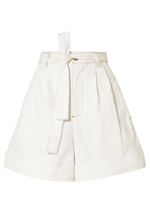 See By Chloé - Belted Cotton-twill Shorts - White