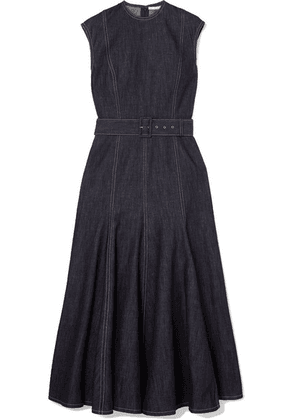 Emilia Wickstead - Ellen Belted Denim Midi Dress - Blue