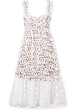 Michael Kors Collection - Broderie Anglaise Cotton Midi Dress - White