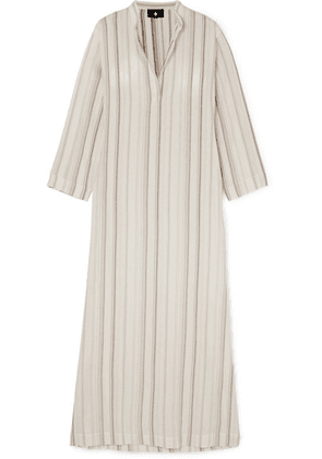 SU Paris - Tek Striped Cotton-gauze Kaftan - Ecru