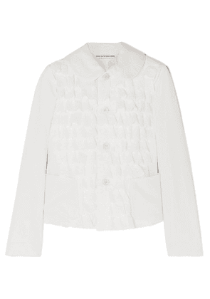 Comme des Garçons GIRL - Ruffled Broderie Anglaise-trimmed Cotton Jacket - White