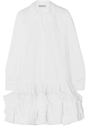 Molly Goddard - Annie Ruffled Cotton-poplin Mini Dress - White