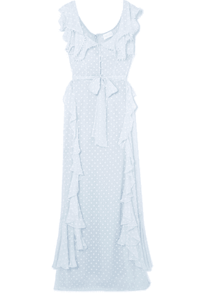 alice McCALL - Moon Talking Ruffled Fil Coupé Maxi Dress - Light blue