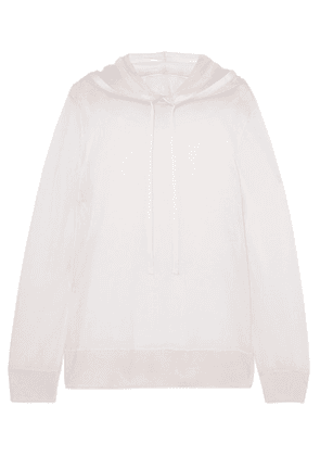 Akris - Silk And Cotton-blend Hoodie - Ivory