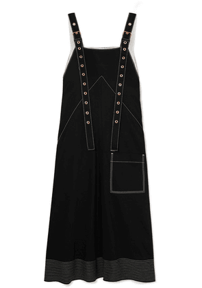 Proenza Schouler - Embroidered Cotton-drill Midi Dress - Black