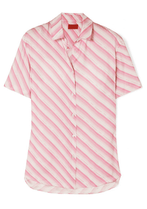 Commission - Banker Striped Twill Shirt - Pink