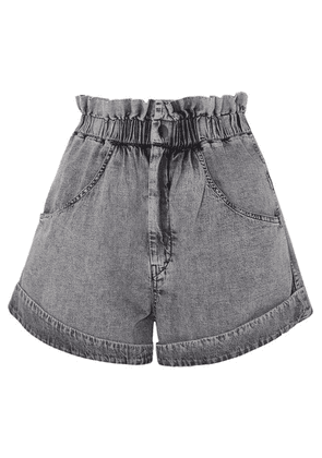 Isabel Marant - Lucio Stonewashed Denim Shorts - Gray