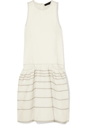 Proenza Schouler - Belted Tiered Denim Midi Dress - White