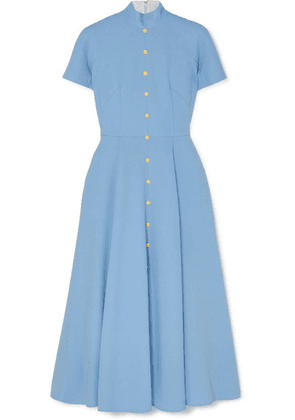 Emilia Wickstead - Camila Wool-crepe Midi Dress - Light blue
