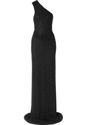 Naeem Khan - One-shoulder Beaded Tulle Gown - Black