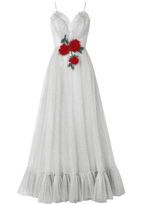 Rodarte - Embellished Flocked Tulle Gown - White