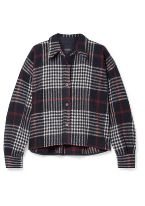 Isabel Marant - Hanao Plaid Wool Shirt - Midnight blue