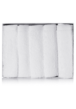Votary - Set Of Five Cotton-terry Face Cloths - White