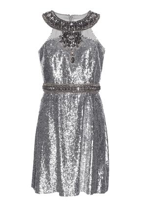 Andrew Gn Sequin Embellished Cocktail Dress