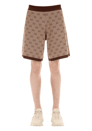 Gg Wool Jacquard Shorts