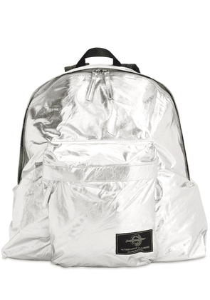 Silver Waxed Cotton Backpack
