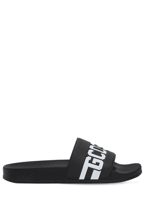 Logo Embossed Rubber Slide Sandals