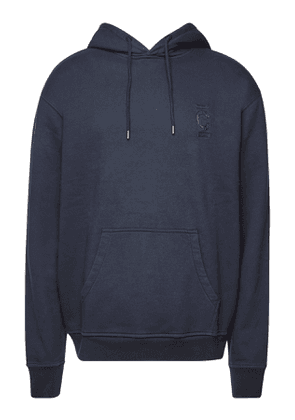 Closed Embroidered Cotton Hoody