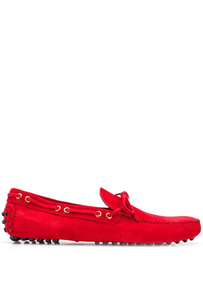 Car Shoe logo boat shoes - Red