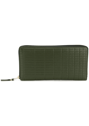 Comme Des Garçons Wallet embossed zip around wallet - Green