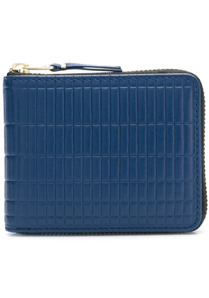 Comme Des Garçons Wallet all around zip wallet - Blue