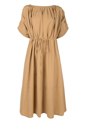 Co belted midi dress - Brown