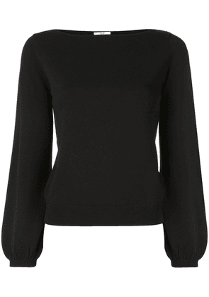 Co knitted boat neck top - Black