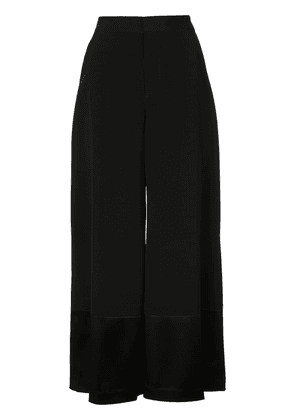 Co panelled cropped trousers - Black