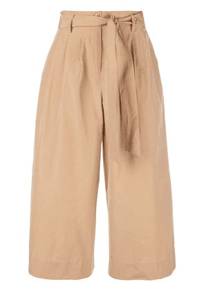 Co wide-leg cropped trousers - Brown