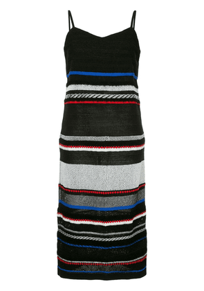 COOHEM striped knitted dress - Black