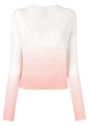 Barrie gradient-effect sweater - White