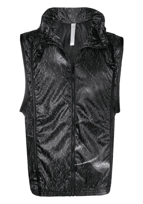 Cottweiler hooded gilet - Black