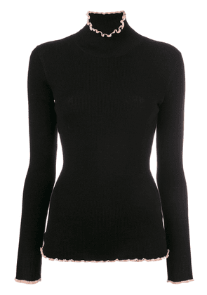 Carven roll neck ribbed sweater - Black