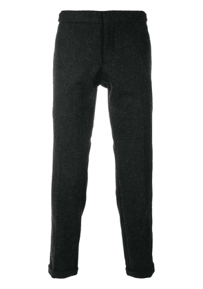 Thom Browne Grosgrain-Tipped Bicolor Skinny Trouser In Shetland Wool -