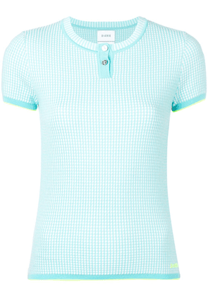 Barrie cashmere grid top - Blue