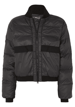 adidas by Stella McCartney - Snake-print Quilted Shell Jacket - Black