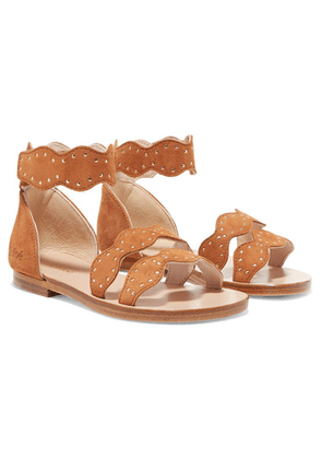 Chloé Kids - Sizes 25 - 27 Studded Suede Sandals